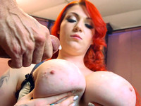 Harmony Reigns getting her plump cunt drilled which culminated with her tits drenched in jizz