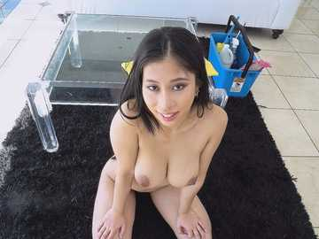Jade Kush Fucks a Creeper After Cleaning