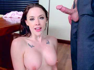 Sensitive model with big breasts Chanel Preston impresses Charles Dera with her tattooed cunt