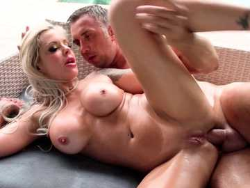Nina Elle has spoons style anal fucking fun with Keiran in outdoor video