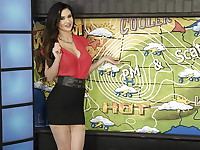 Busty Kendall Karson is the new, sexy weather reporter who is starting her first day on the ...
