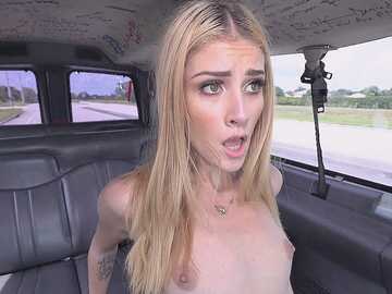 Long-legged angelface Mazzy Grace banged in van dreaming about career in porn